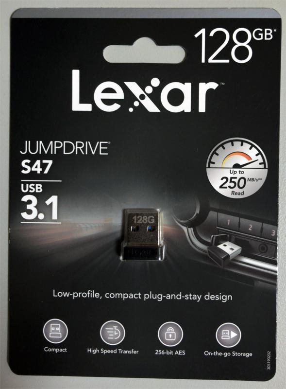 『JumpDrive S47 LJDS47-128ABBK』パッケージ表